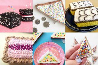Australia Day Craft - fairy bread, lamington, cakes, vanilla slic, play food to make mypoppet.com.au