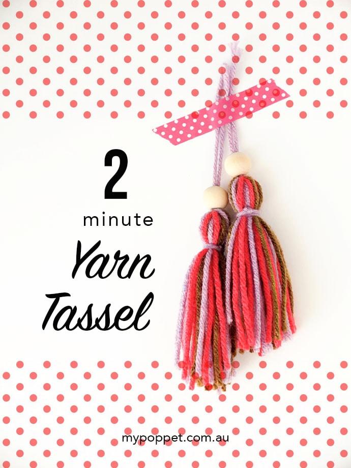 How to make a yarn tassel - mypoppet.com.au
