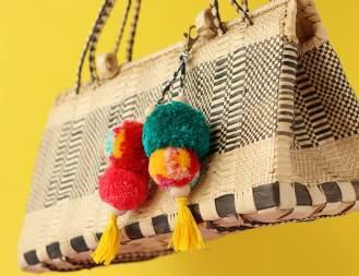 pom pom key ring and bag charm DIY - mypoppet.com.au