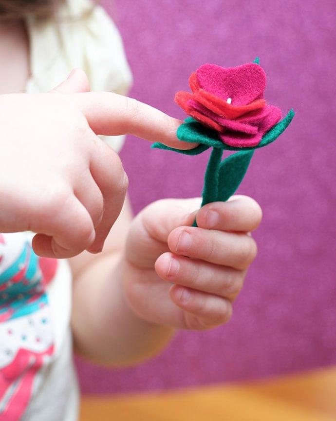 Felt Craft Flower Rose: www.mypoppet.com.au/makes