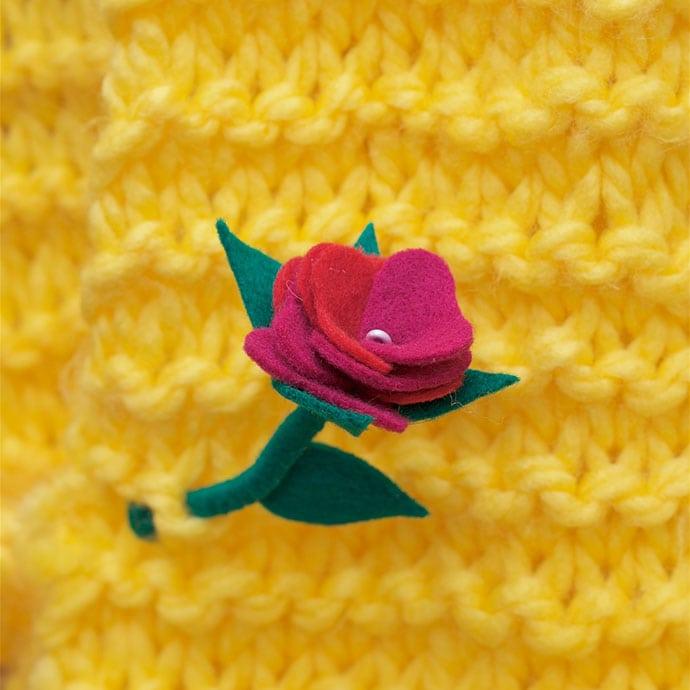 How to make a felt rose