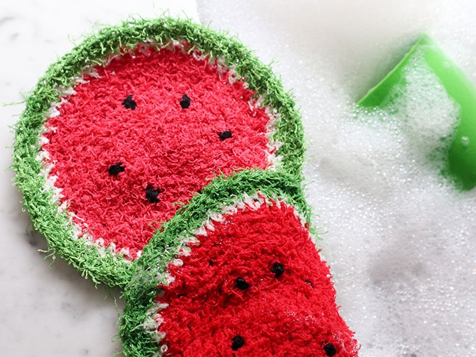 Crochet Pattern: Watermelon Dishcloth