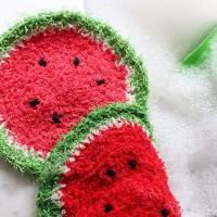 Crochet Pattern: Watermelon Dishcloth