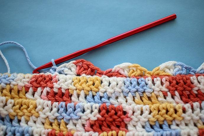 shell stitch crochet border