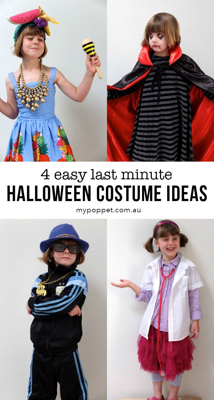 Last minute Halloween Costume ideas for Kids on a budget - mypoppet.com.au