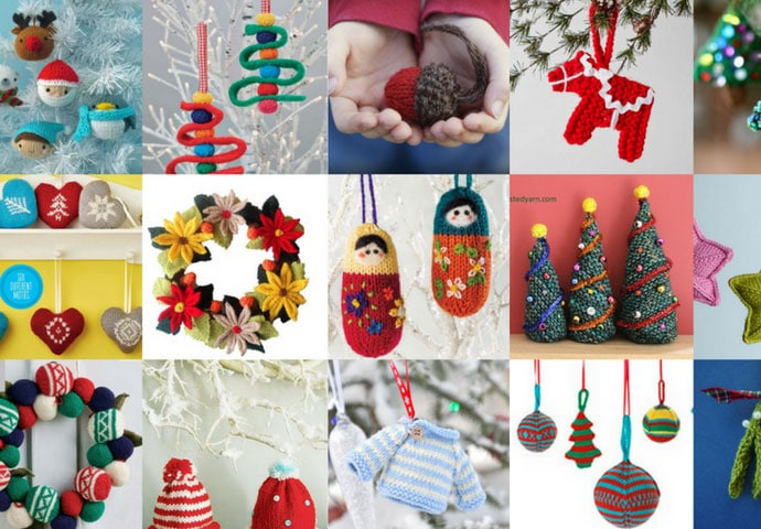 18 Knitted Ornaments to make this Christmas