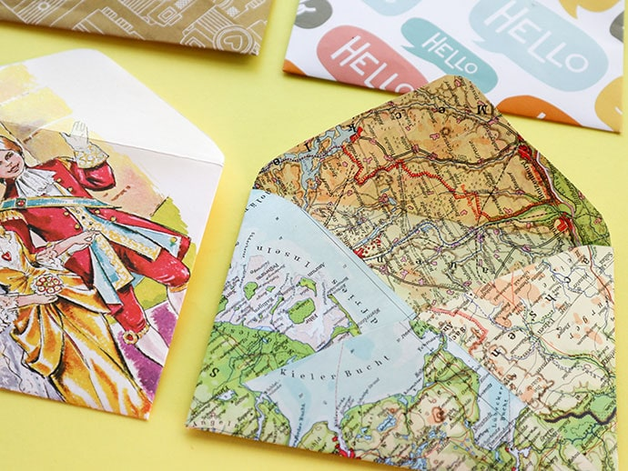 Recycle Craft: How to make an Envelope with Printable Template