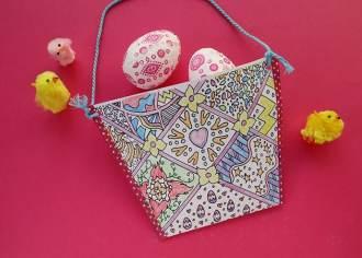 Kids Craft: Print & Color Easter Basket - mypoppet.com.au