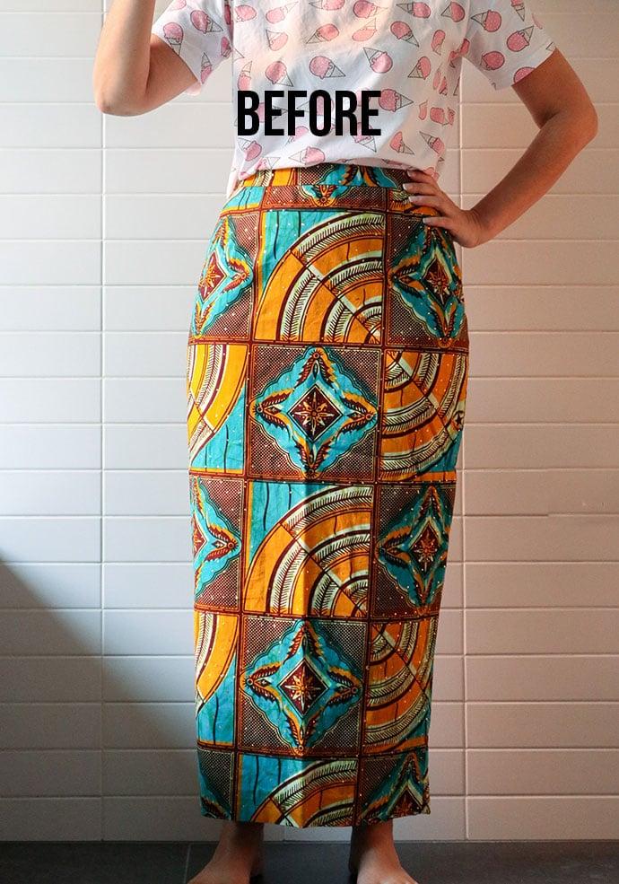 Skirt alteration before