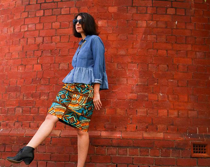 Hemming - skirt refashion - mypoppet.com.au