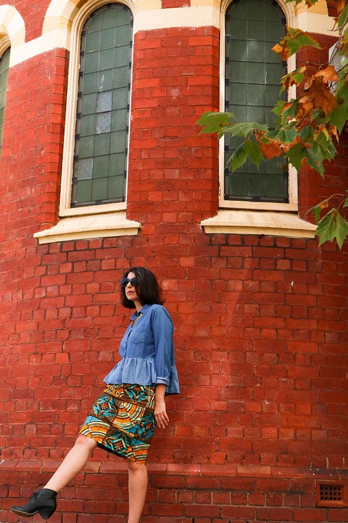 African print Skirt refashion - mypoppet.com.au