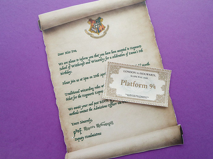graphic about Harry Potter Envelope Printable named Harry Potter Celebration Invitation Template - Hogwarts Level of popularity