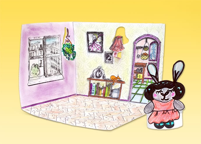 Printable paper doll house - mypoppet.com.au