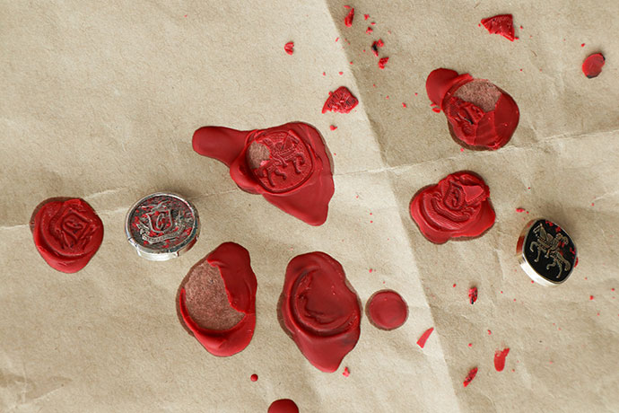 Wax seal failed attempts