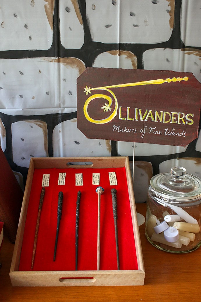 Harry Potter Party Ollivander's Wand Shop Display - mypoppet.com.au