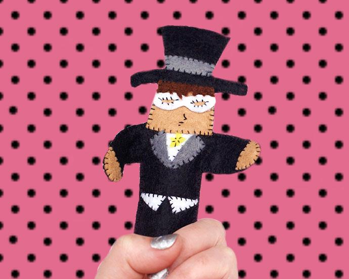 Tuxedo Mask sailor moon puppet doll - mypoppet.com.au