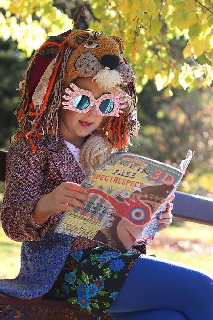 photo relating to Luna Lovegood Glasses Printable called Luna Lovegood Cosplay - The Supreme Handmade Gown