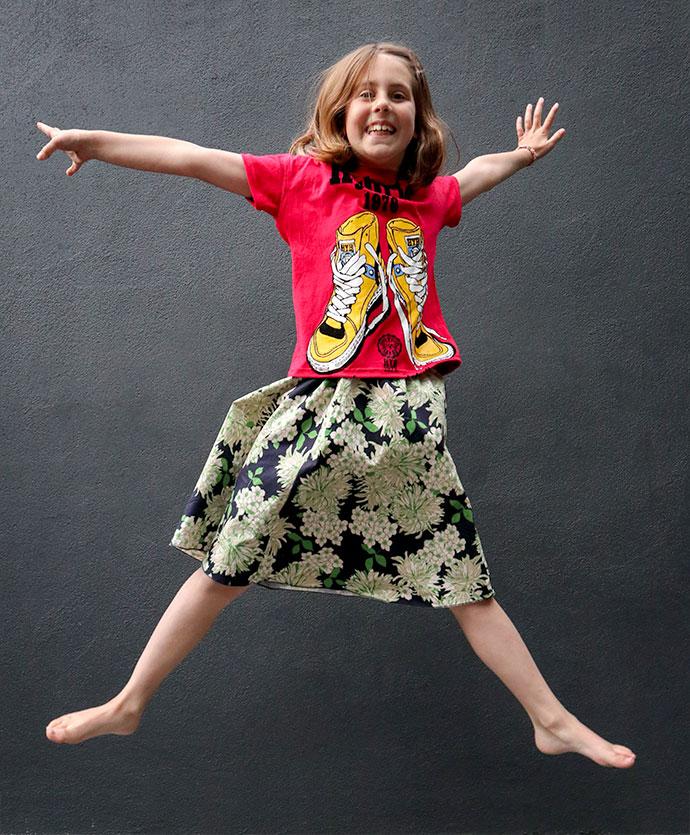 T-shirt refashion - Adult to kids size - mypoppet.com.au