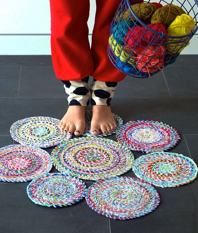 Find out more about paint crafts kids can enjoy. 7 Ways To Make A Rag Rug From Old Clothes My Poppet Makes
