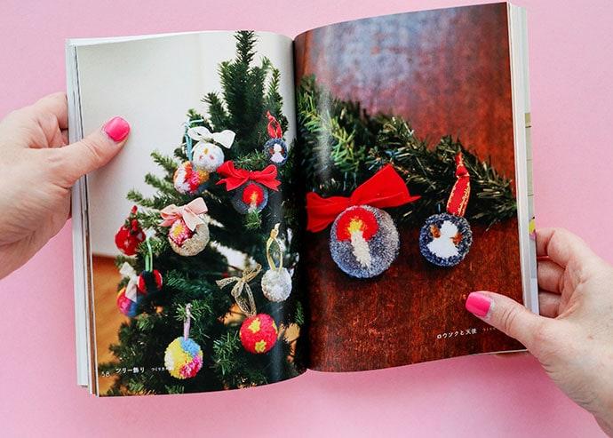 Chritmas pom poms How to make pom poms craft book review - mypoppet.com.au