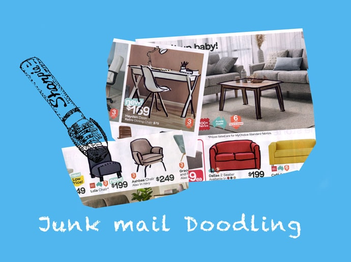 Learn to Draw objects - Junk mail doodling - mypoppet.com.au