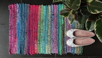 Coil + Crochet Scrap Fabric Rug DIY   My Poppet Makes
