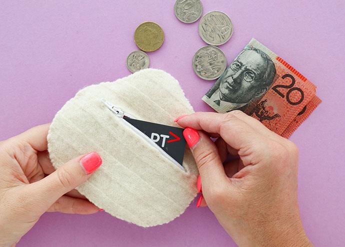 DIY fried egg Coin Purse Tutorial - mypoppet.com.au