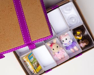 Make shelves inside a shoebox - mypoppet.com.au
