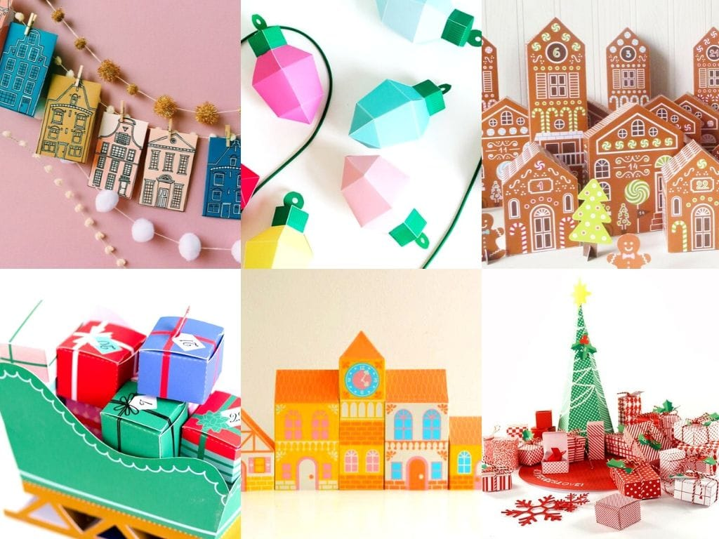 10 Unique & Whimsical Printable Advent Calendars to craft this Christmas