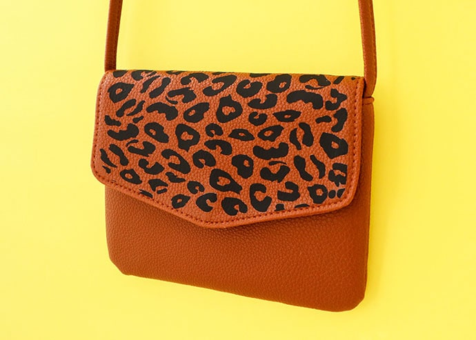 Leopard Print Bag Makeover with Cricut Joy