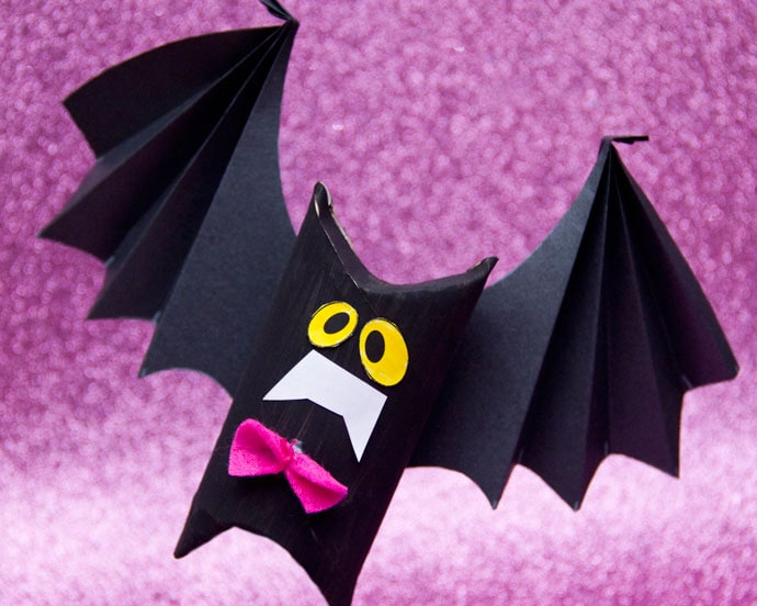 Halloween Craft: Toilet Paper Roll Bat