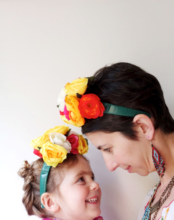 How To Frida Kahlo Inspired Floral Headband My Poppet Makes