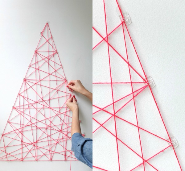 modern christmas tree string