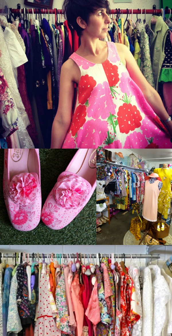 Vintage clothes shop pink slippers