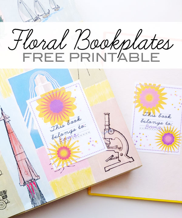 photo regarding Free Printable Bookplates for Adults titled Totally free Printable - Floral Bookplates My Poppet Produces