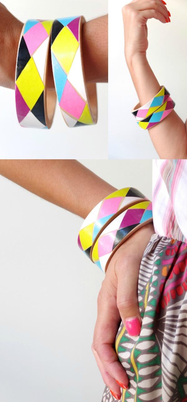 Bangle DIY My Poppet Harlequin Design
