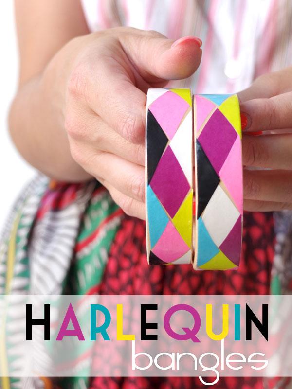Harlequin Decoupage Bangle DIY My Poppet