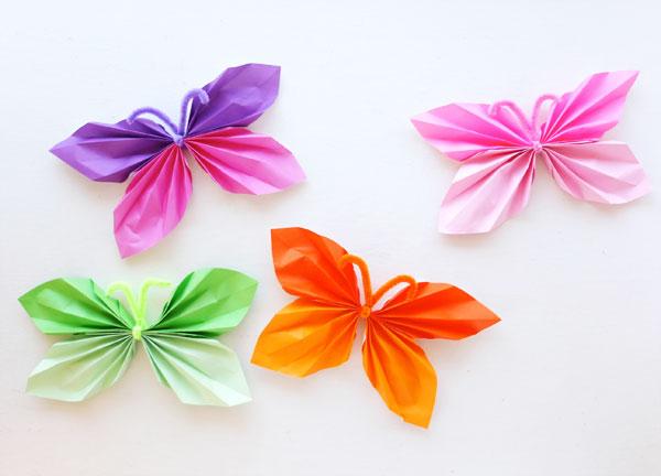 colored paper butterflies mypoppet.com.au