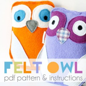 Felt owl toy PDF pattern