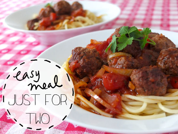 spaghetti and meatballs easy meal