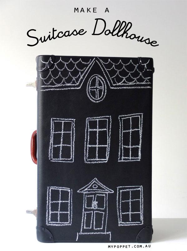 Vintage suitcase dollhouse upcycle mypoppet.com.au