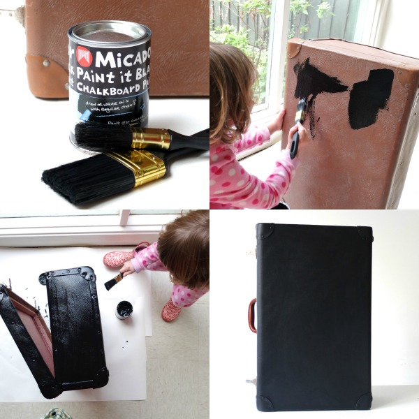 painting suitcase dollhouse