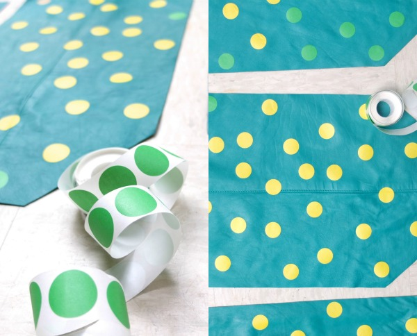 make your own spotty tote bag