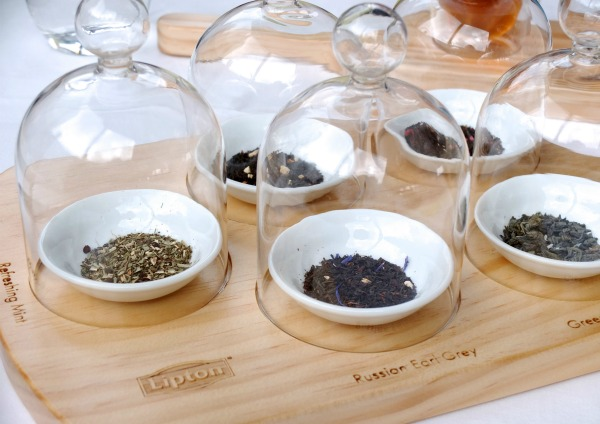 tea leaves in cloche