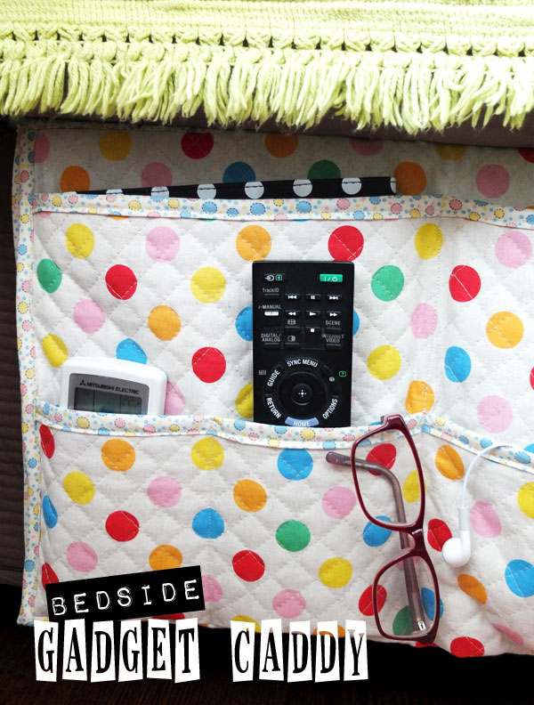 Make a bedside gadget caddy and stuff holder to organize your bedroom space
