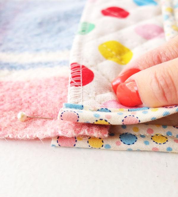 attaching blanket