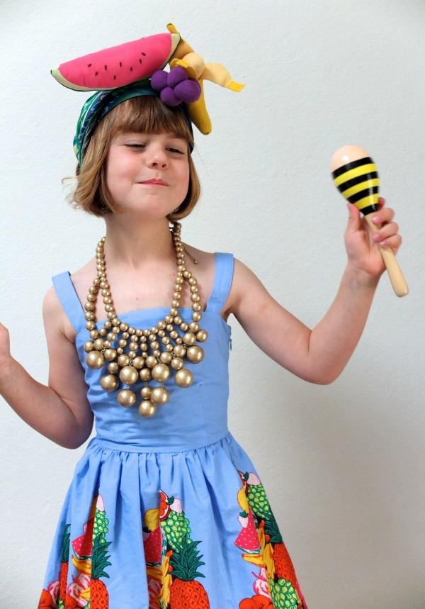 Carmen miranda kids costume dress up Halloween Mypoppet.com.au