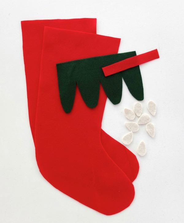 Let's make a felt strawberry christmas stocking mypoppet.com.au