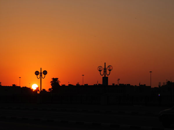 sunset in Old Dubai