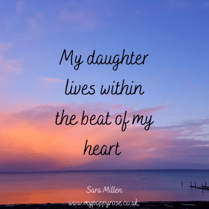 Angel Mummy Quote: My daughter lives within the beat of my heart.